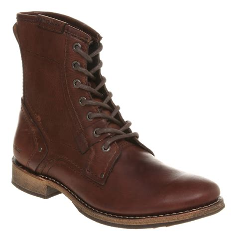 mens caterpillar aw10 abe lace boot brown leather boots