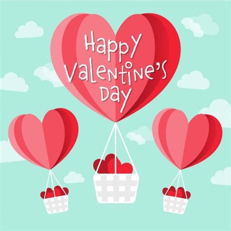 free valentines vectors shaped air balloons for vector free