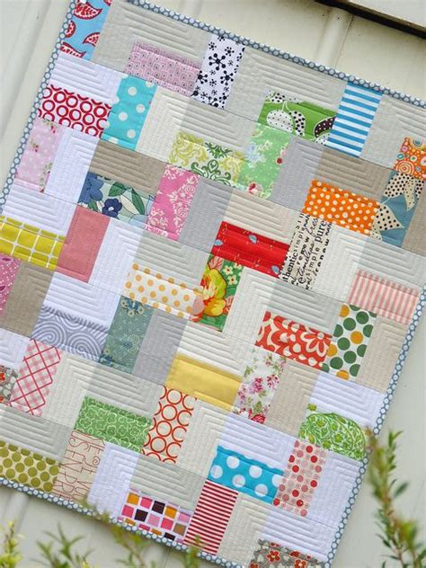 Easy Zig Zag Quilt Pattern by Zig Zag Pattern Created By The Placement Of Solids Vs Prints Baby Quilt Idea