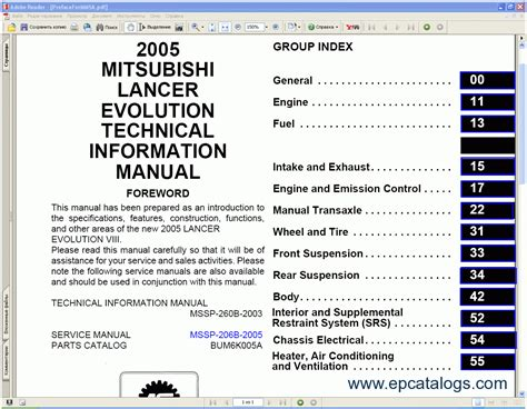 free car repair manuals 2010 mitsubishi lancer spare parts catalogs mitsubishi lancer 2005