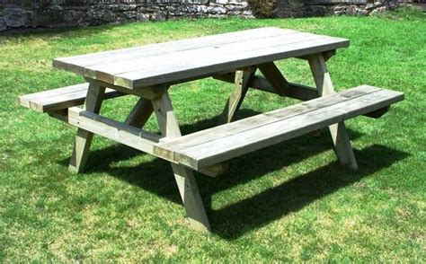 heavy duty large rectangular picnic table 163 179 99