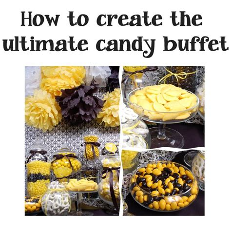 17 best images about black and yellow candy buffet on