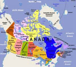 largest most detailed map of canada and the flag travel