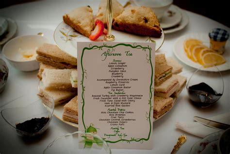 high tea baby shower menu