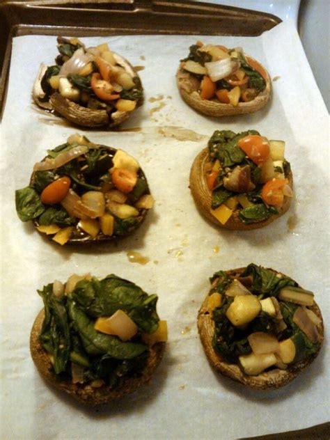Detox Stuffed Mushrooms in the kitchen on the run tls detox week 1 stuffed