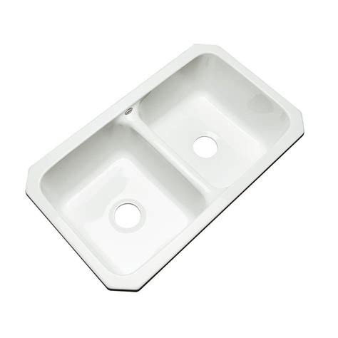 mobile home sinks 33x19 thermocast newport undermount acrylic 33 in double bowl