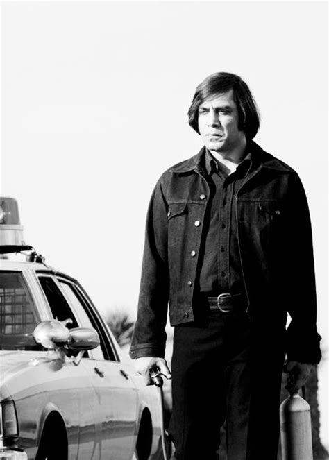 Javier Bardem as hitman Anton Chigurh in No Country For