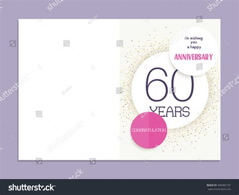 60th wedding anniversary card templates free 60th anniversary decorated greeting card template stock