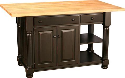 turned leg island with two doors and two drawers from