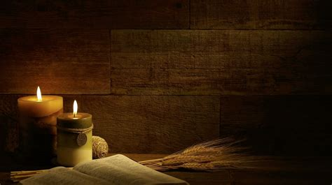 themes in god s bits of wood autumn candles with bible on retro wood backgroundloop