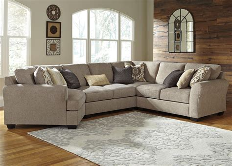 left cuddler sectional benchcraft pantomine 4 piece sectional with left cuddler