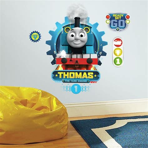 printable thomas stickers roommates 5 in x 19 in thomas the tank engine 4 piece