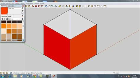 tutorial de google sketchup tutorial sketchup c 243 mo hacer un cubo y pintar sus caras