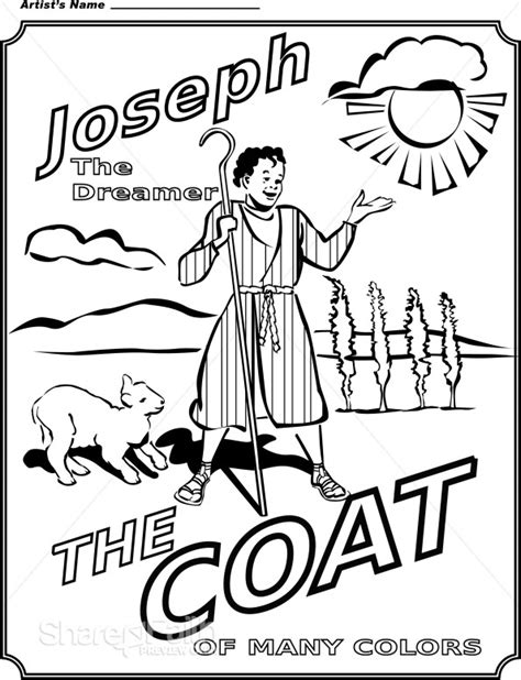 jose king of egypt colouring pages