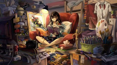 anime girl gamer wallpaper anime gamer girl wallpapers 52dazhew gallery
