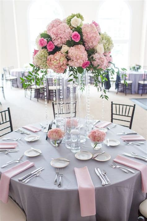 grey wedding centerpieces shawn the garden on millbrook pink napkins and