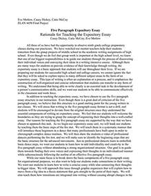 A Expository Essay by Essay Tips How To Write An Expository Essay