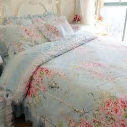Oversize King Duvet Blue Rose Bedding Set