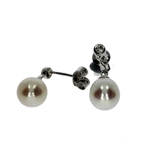 9ct white gold freshwater cultured white pearl