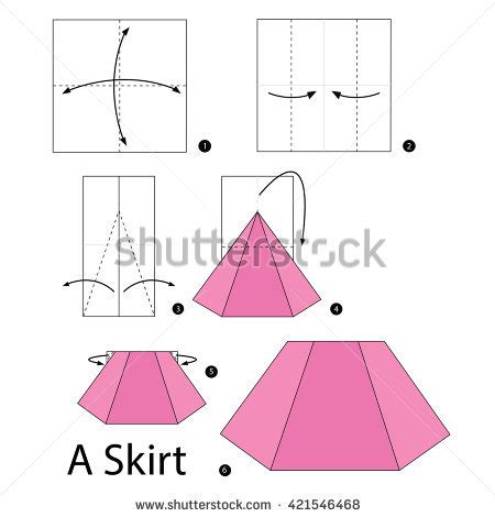 How To Make A Paper Skirt - royalty free how to make origami paper airplane