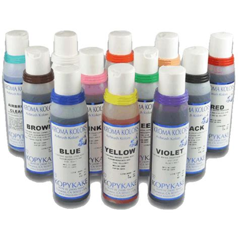 kroma kolors airbrush colors 4 oz set 11 colors ebay
