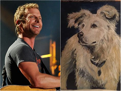 dierks bentley fan fan paints portrait of dierks bentley s late as gift