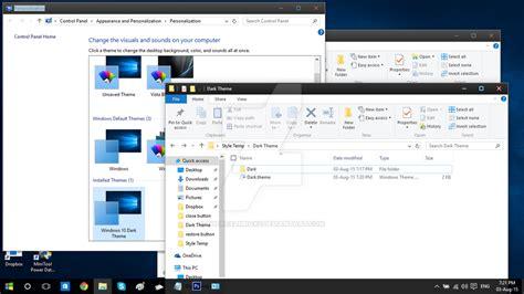 yosemite dark theme for windows 10 rtm windows 10 rtm dark theme test preview by