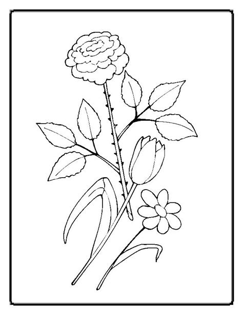 flower coloring pages 1 coloring kids coloring pages worksheets simple flower coloring pages