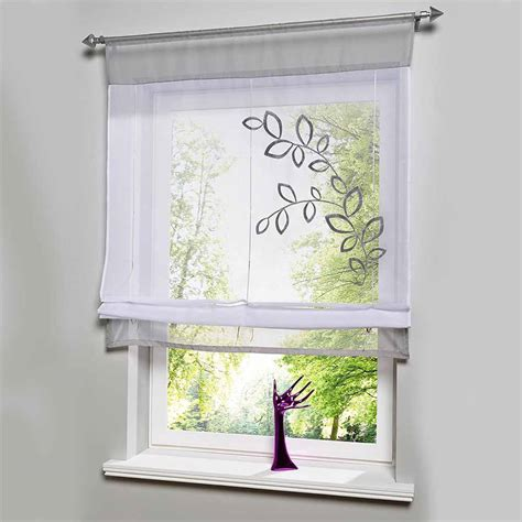 short kitchen window curtains hot sales embroider voile curtains short curtains for