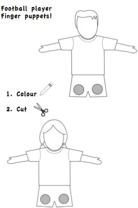How To Make A Finger Football Out Of Paper - football finger puppets esl teaching materials