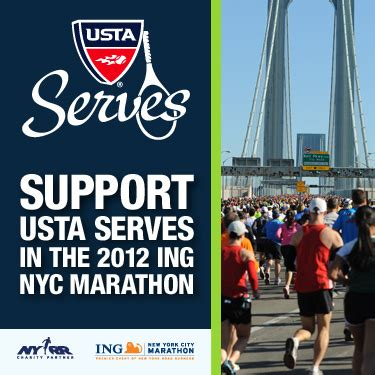 the united states tennis association raising the books team usta serves nyc marathon 2012 usta foundation