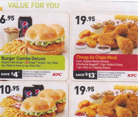 printable food coupons australia kfc au coupons offer coupon code for compact appliance