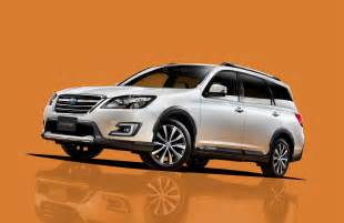 Subaru Crossovers Subaru Introduces Exiga Crossover 7 In Japan