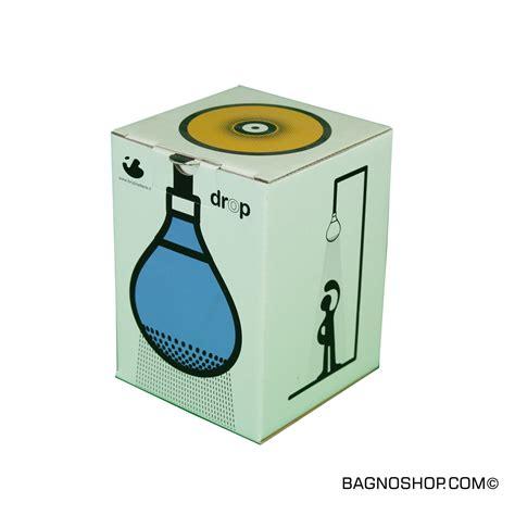 drop doccia soffione in silicone giallo drop