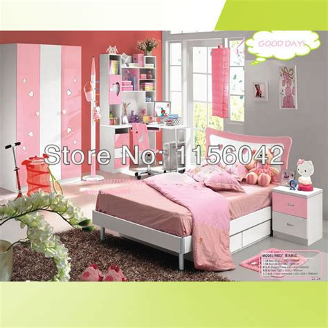 cheap kid furniture bedroom sets top sale nice cute pink color children kids furniture bed
