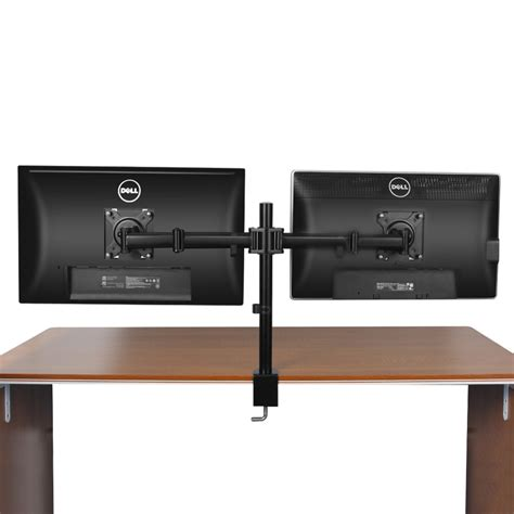 dual monitor mount desk stand adjustable arm tilt swivel