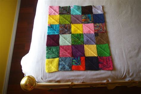 peggy squares knitting pattern mitered square blanket knit join as you go free