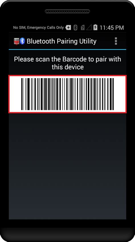tutorial android barcode scanner pairing with bluetooth scanning device using bluetooth