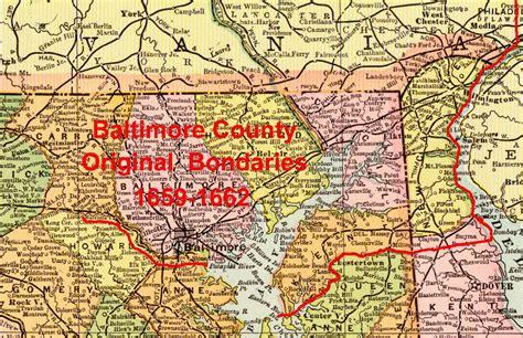 maryland map county boundaries baltimore county boundaries