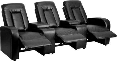 reclining seat movie theater eclipse 3 seat reclining black leather theater seating
