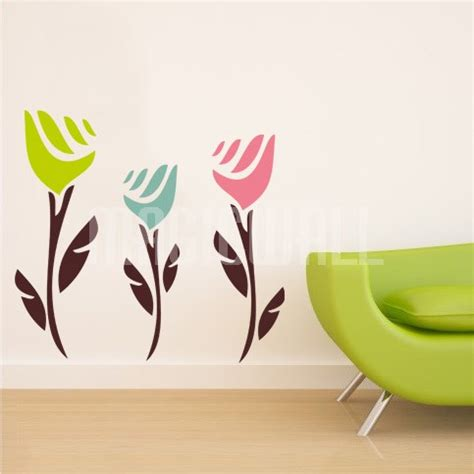 tulip wall stickers wall decals abstract tulips wall stickers