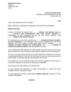 Modèle Courrier Demande Exonération Taxe Aménagement
