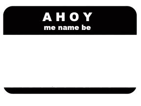 printable pirate name tags pin printable pirate badges welcome on pinterest