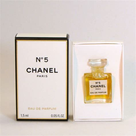 chanel no 5 eau de parfum 1 5 ml 0 05 fl oz mini micro perfume new in box ebay