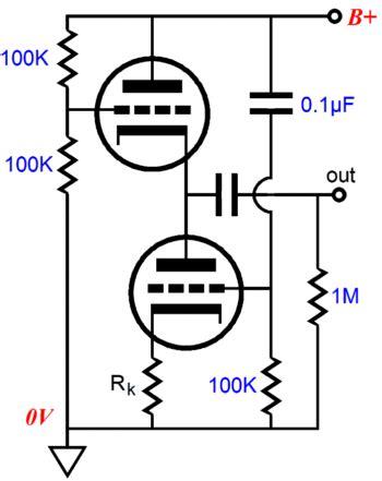 100k cathode resistor new lv regulator