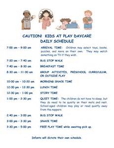 home daycare schedule template best photos of preschool daily schedule template free