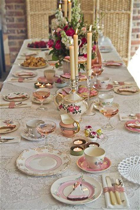 Tea Table Setting by 25 Best Ideas About Tea Table Settings On