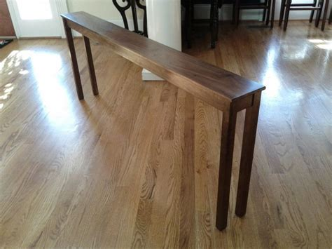 thin table behind couch skinny sofa table diy decorating pinterest