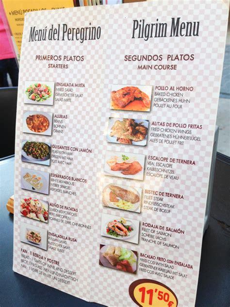 camino menu walking part of the camino de santiago estella to los