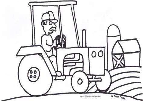tractor coloring pages preschool easy tractor coloring pages for preschoolers